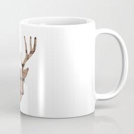 Plaid Deer Head: Brown Coffee Mug