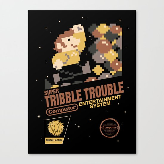 Super Tribble Trouble Canvas Print