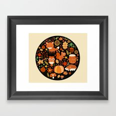 Autumn Party For Forest Friends Framed Art Print