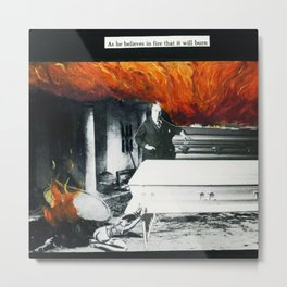 Total Post Mortum Immolation (funeral metal 3) Metal Print