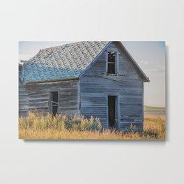 Falling Farm House, North Dakota 13 Metal Print