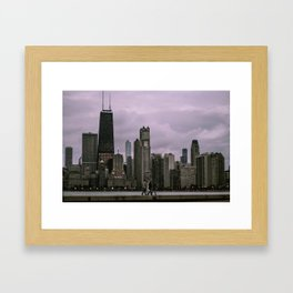 Purple Chicago Evening Framed Art Print