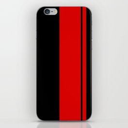 Red Racing Stripe Berlin Style iPhone Skin