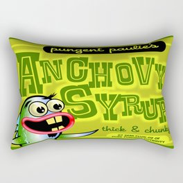 pungent paulie's anchovy syrup Rectangular Pillow