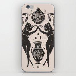 Persephone - Black iPhone Skin