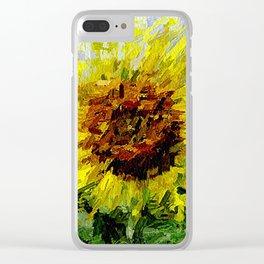 Sonnenblume Clear iPhone Case