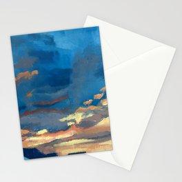 Neighborhood sunset Stationery Cards