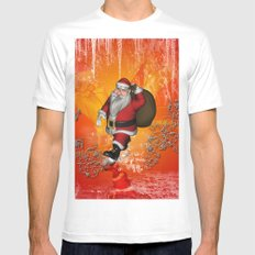 Christmas time Mens Fitted Tee MEDIUM White