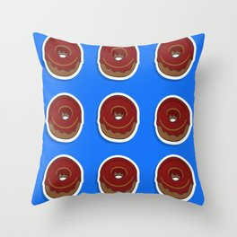 The Blue Donut Throw Pillow