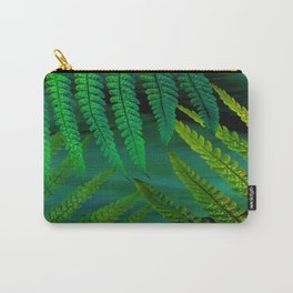 Forest Fern Green Carry-All Pouch