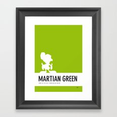 No15 My Minimal Color Code poster Marvin Framed Art Print