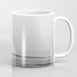Surfers - Black and White Ocean Photography Huntington Beach California Coffee Mug