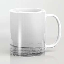 Surfers - Black and White Ocean Photography Huntington Beach California Coffee Mug
