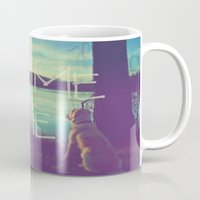 home sweet home Mugs featuring HOME by Monika Strigel