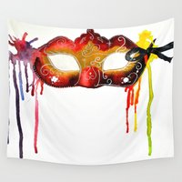 carnival Wall Tapestries featuring Carnival by VoicesRantOn