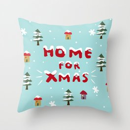 Home for Xmas Throw Pillow