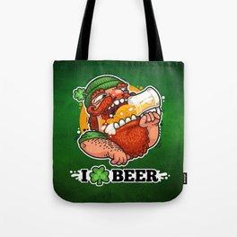 Patrick With Beer Tote Bag