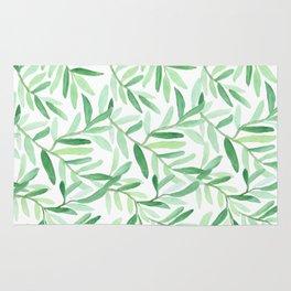 Whimsical watercolor leaves Rug