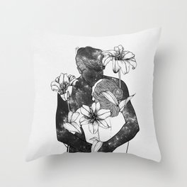 You are my flowery drug. Throw Pillow