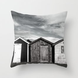 Fishermans home - small huts Throw Pillow