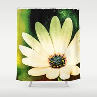 daisy Shower Curtains featuring Daisy by Loredana