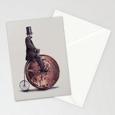 Penny Farthing (grey option) Stationery Cards