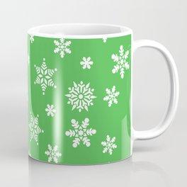 Snow Flurries-Christmassy Green Coffee Mug