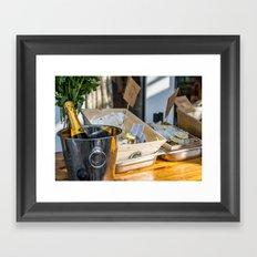 Oyster&Chanmpagne Framed Art Print