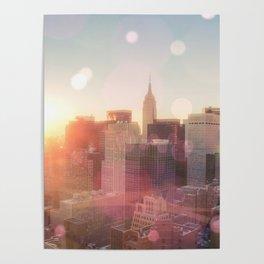 New York City Skyline Love Poster