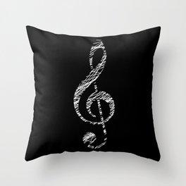 Invert scribble sol key Throw Pillow