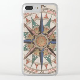 Historical Nautical Compass (1543) Clear iPhone Case