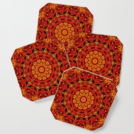 Flaming flowers Coaster