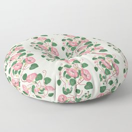 Morning glory hand drawn pattern  Floor Pillow