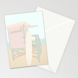 Beach Hut - Mint and Blush  Stationery Cards