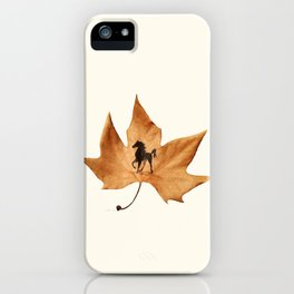 Horse on a dried leaf iPhone Case