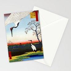 Hiroshige Minowa, Kanasugi, Mikawashima Stationery Cards