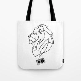 Lion Tape Art Tote Bag