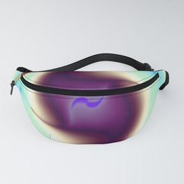 Purple Ghost Abstract Fanny Pack