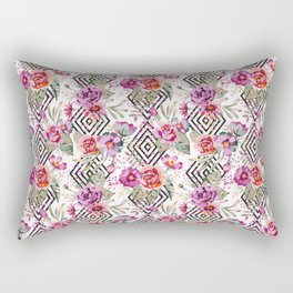 Geometric flowers pattern Rectangular Pillow
