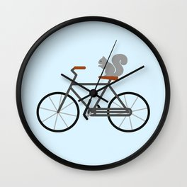 Squirrel Riding Bike Wall Clock