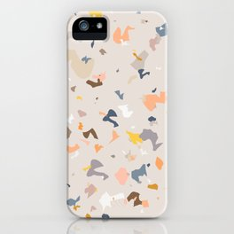 Lively Colorful Terrazzo Pattern iPhone Case