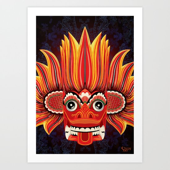 Sri Lankan Fire Demon Art Print