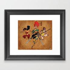Teenage Disney Ninja Princesses Framed Art Print