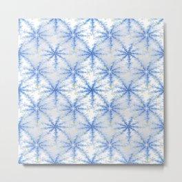 Snow Flakes Design Metal Print