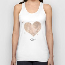 Mars in love Unisex Tank Top