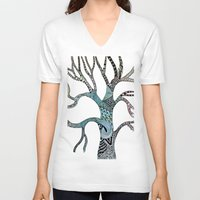 twilight V-neck T-shirts featuring Twilight by neena