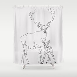 Bambi & Stag Shower Curtain