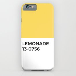 Lemon Pantone Chip • Summer • Sunshine •Yellow • Warm Tones • Bright • Happy • Block Print • Bold iPhone Case