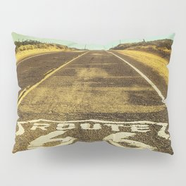 Route 66 Road Marker Pillow Sham