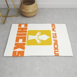 Single Dating Ripper Chick Funny Gift Rug